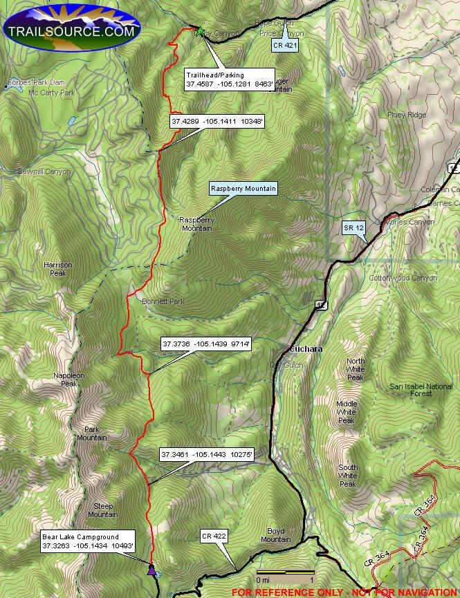 Indian Creek Trail Dirt Biking Map