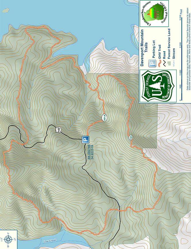 Davenport ORV Trail Dirt Biking Map