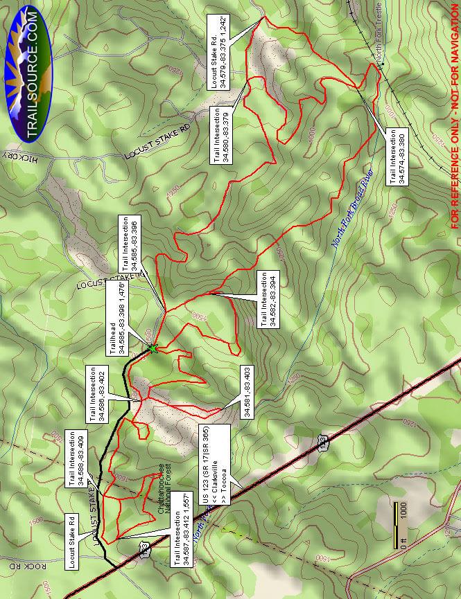 Locust Stake ATV Area Dirt Biking Map