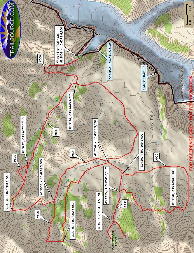 Wilson Flat ATV Trail System Dirt Biking Map