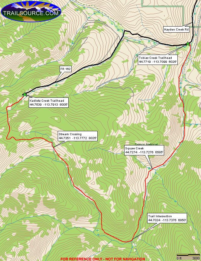 Hayden Creek Trail Dirt Biking Map