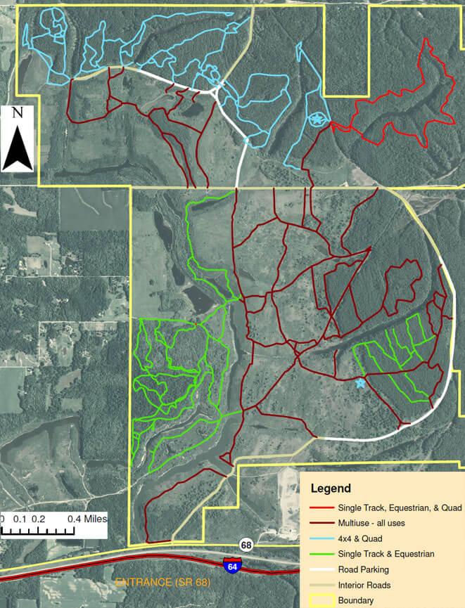 Interlake Property / Spurgeon Riding Area Dirt Biking Map