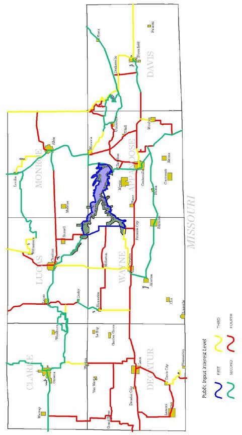 Rathbun ORV Park Dirt Biking Map