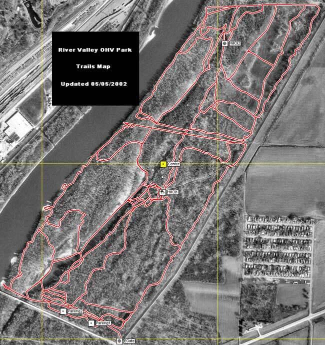 River Valley OHV Park Dirt Biking Map