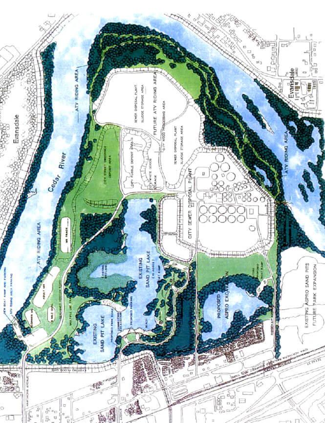 Riverview OHV Park Dirt Biking Map