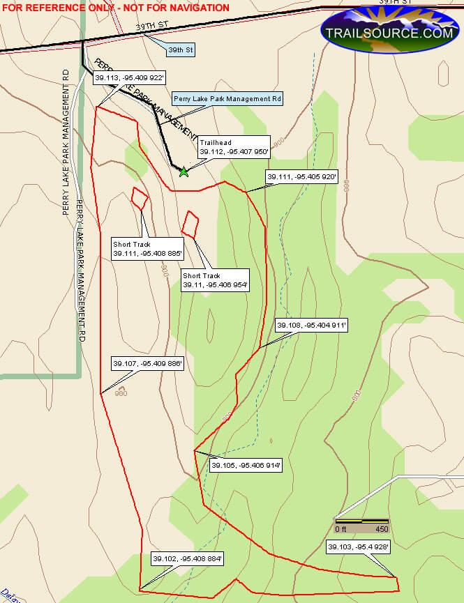Perry Lake Dirt Biking Map