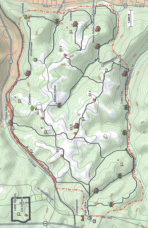 Big Rock ORV Park Dirt Biking Map