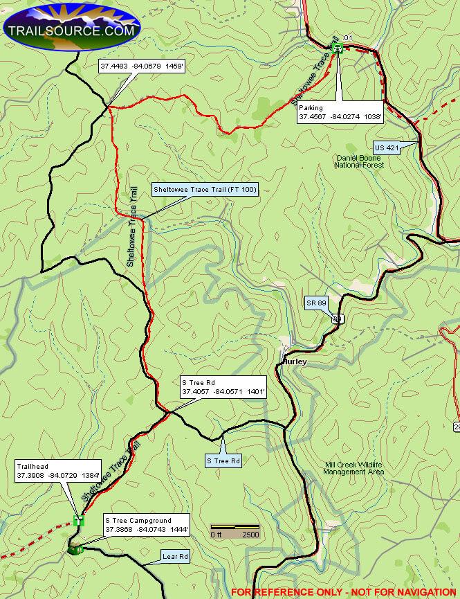 S-Tree OHV Route Dirt Biking Map