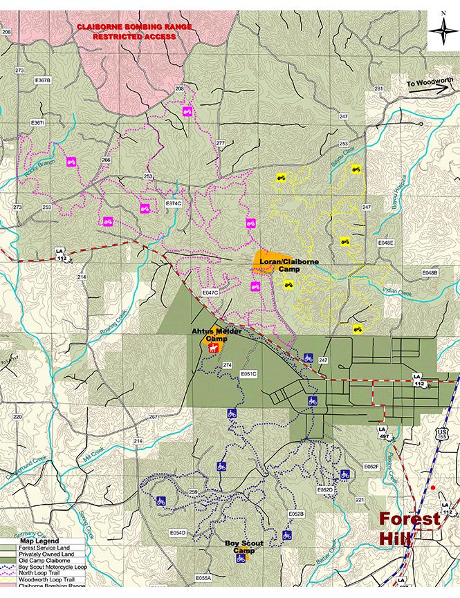 Claiborne Multi-Use Trail Riding System Dirt Biking Map