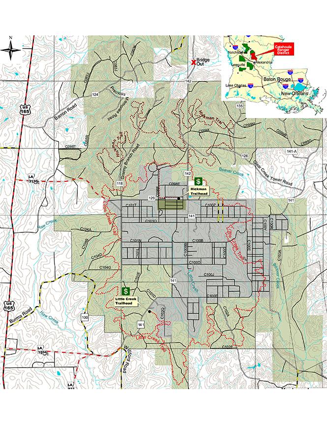 Livingston Trail Complex Dirt Biking Map