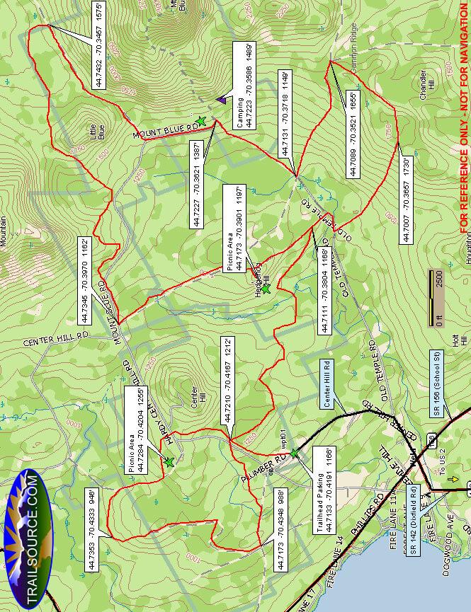Mount Blue State Park Dirt Biking Map