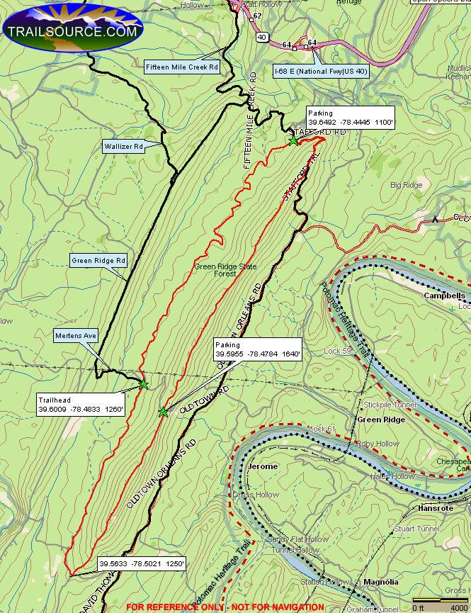 Stafford Trail Dirt Biking Map