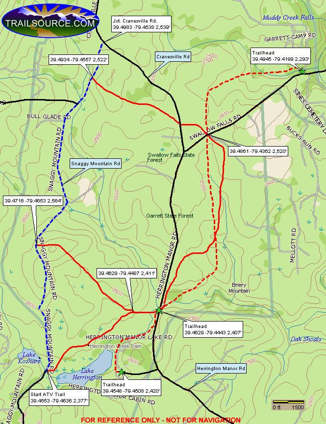 Garrett Trail Riding System Dirt Biking Map