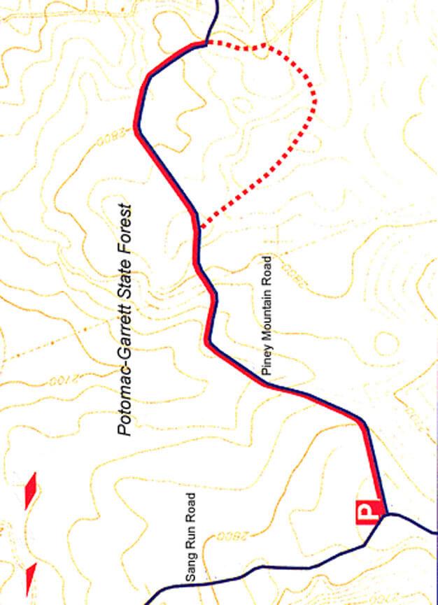 Piney Mountain Trail Dirt Biking Map