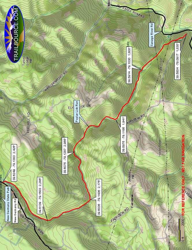 Poplar Lick Trail Riding System Dirt Biking Map