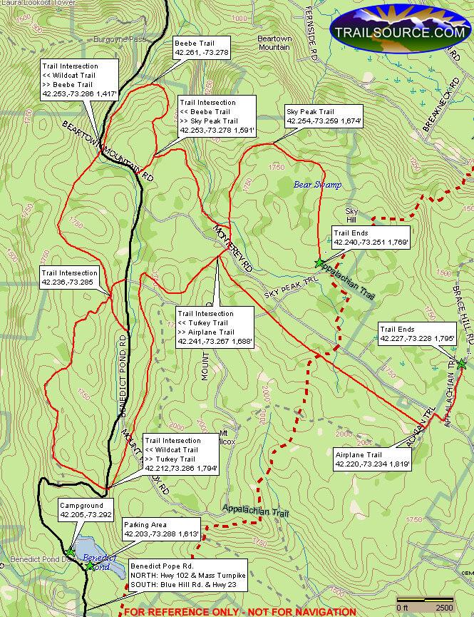 Beartown State Forest Dirt Biking Map