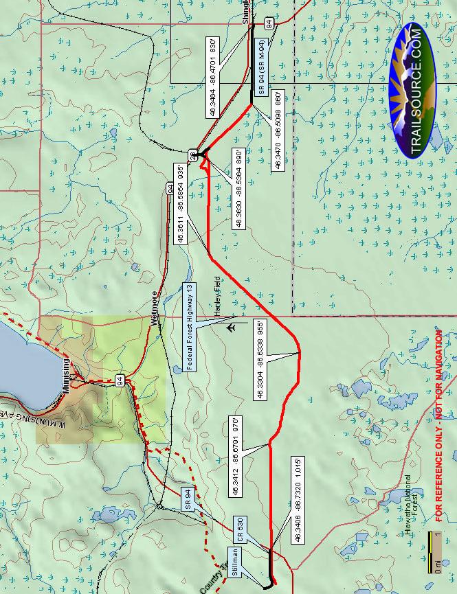 Coal Wood Riding Trail Dirt Biking Map