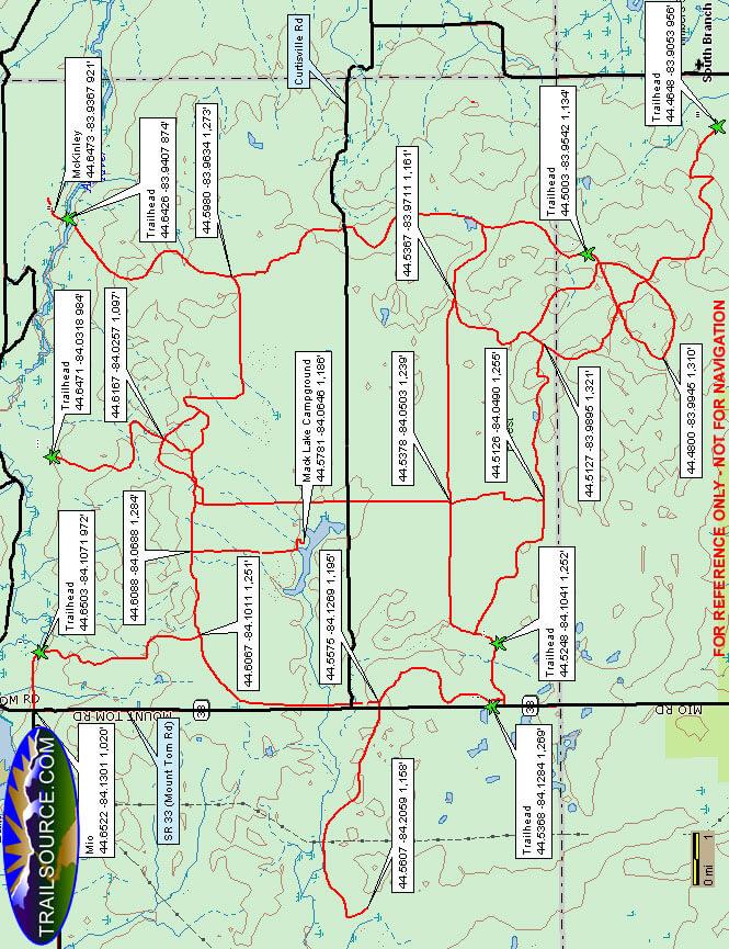Bull Gap ORV Trail Dirt Biking Map