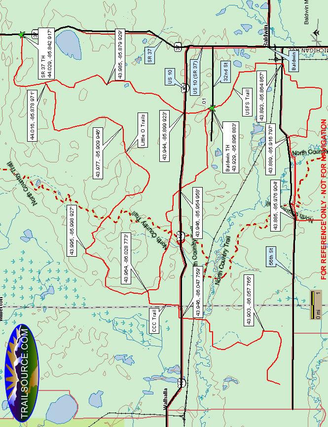 Little O Trail Dirt Biking Map