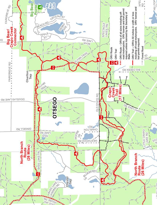 Crapo Creek ORV Trail Dirt Biking Map