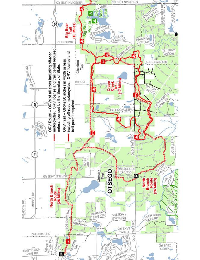 North Branch ATV Route Dirt Biking Map