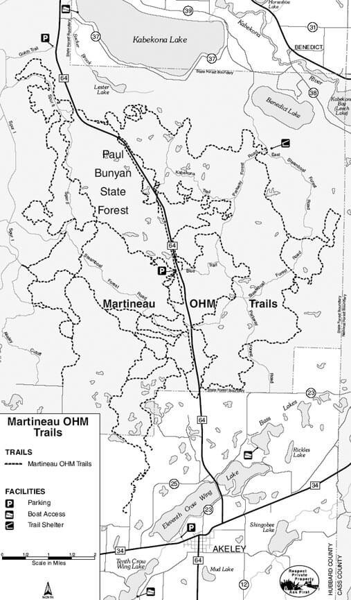 Martineau Recreation Trail Dirt Biking Map