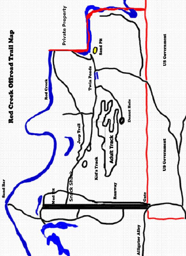Red Creek ORV Dirt Biking Map