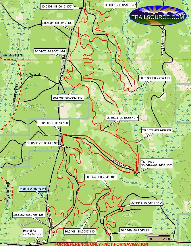 Bethel ATV Trail Dirt Biking Map