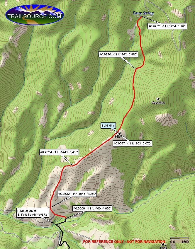 Bald Hills ATV Trail Dirt Biking Map