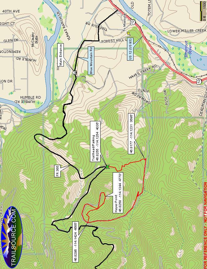Blue Mountain ORV Trail Dirt Biking Map