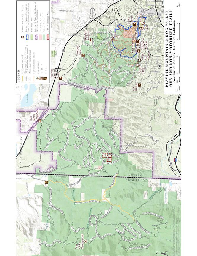 Peavine Mountain Dirt Biking Map