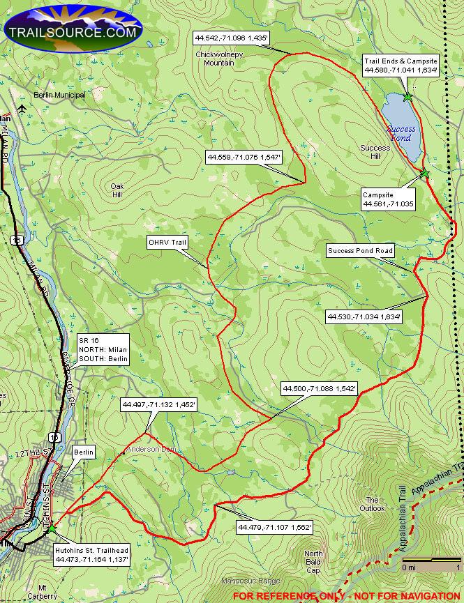 Success Trail Bike Area Dirt Biking Map