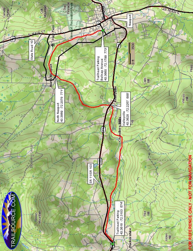 Sugar River Trail Dirt Biking Map