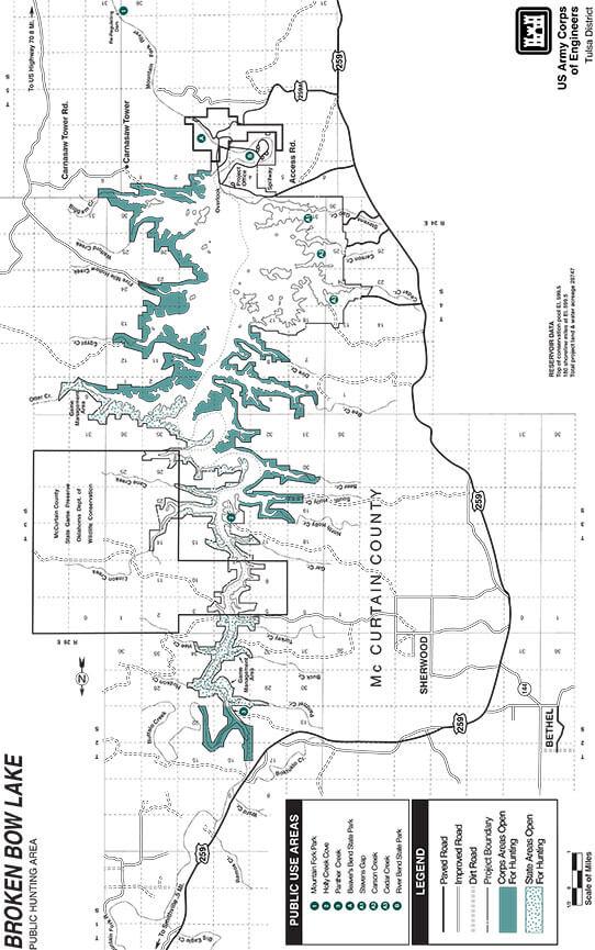 Broken Bow Management Area Dirt Biking Map