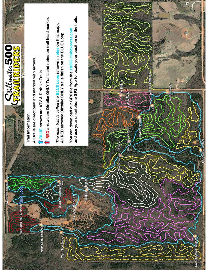 Stillwater Cycle Park Dirt Biking Map