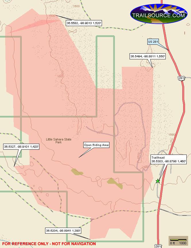 Little Sahara State Park Dirt Biking Map