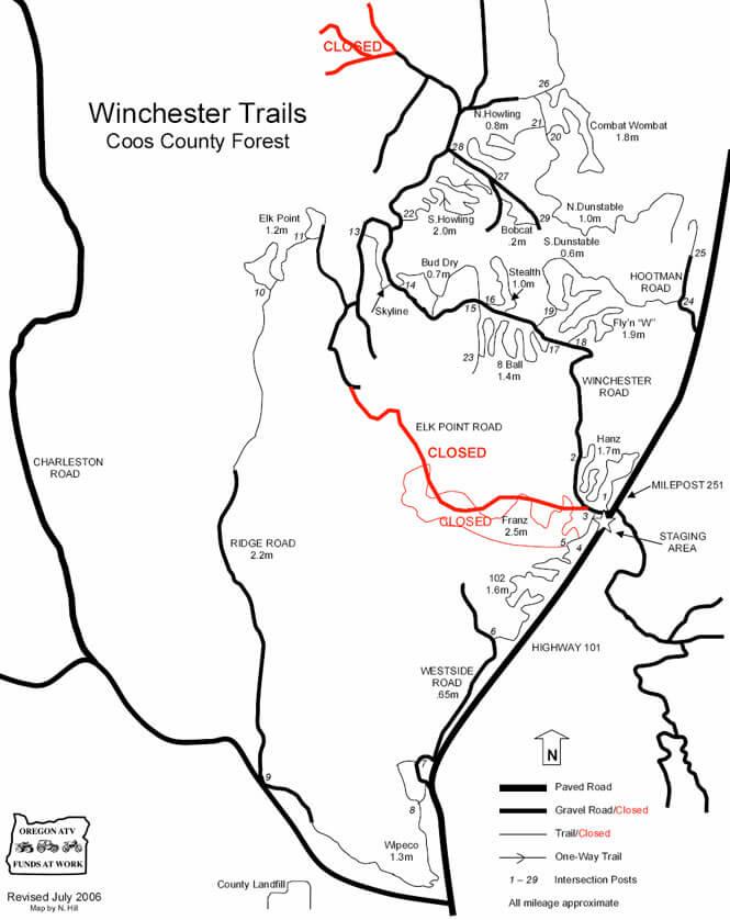 Winchester Trail System Dirt Biking Map