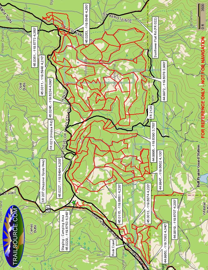 Morrow County OHV Park Dirt Biking Map