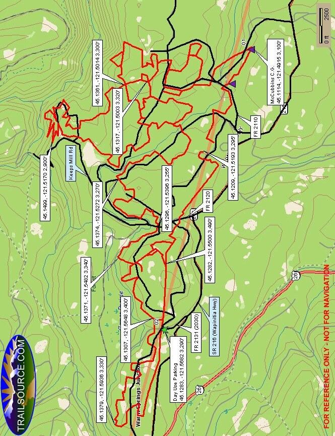 McCubbins Gulch OHV Area Dirt Biking Map