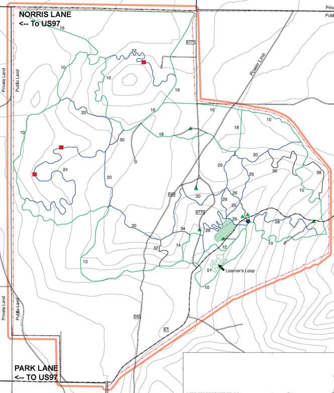 Henderson Flat ORV Trail System Dirt Biking Map