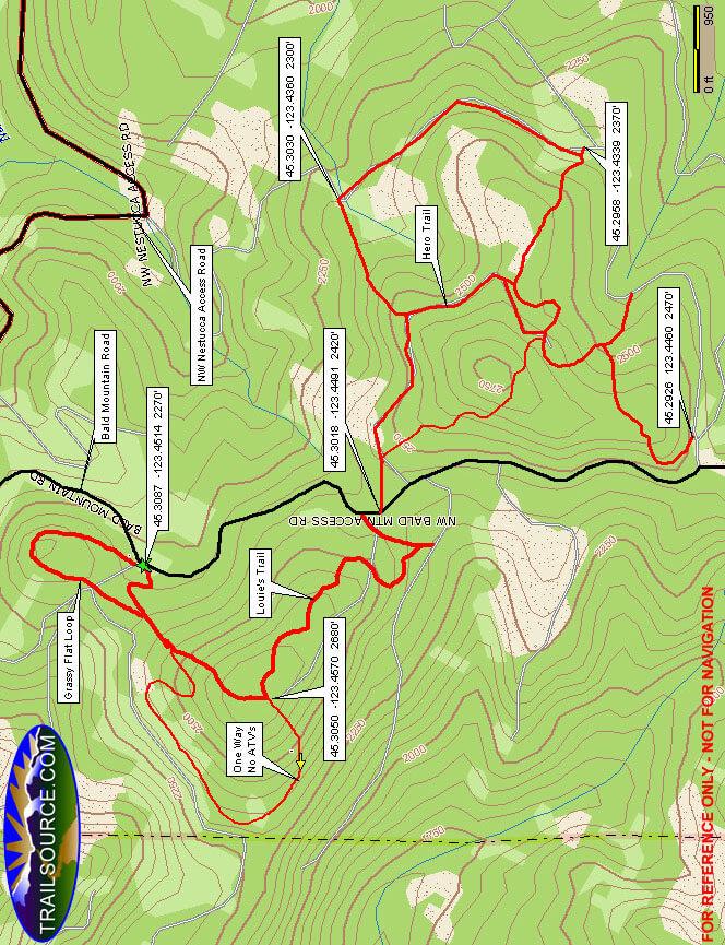 Grassy Flat Staging Area Dirt Biking Map
