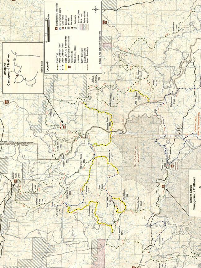 Winom Frazier OHV Complex Dirt Biking Map