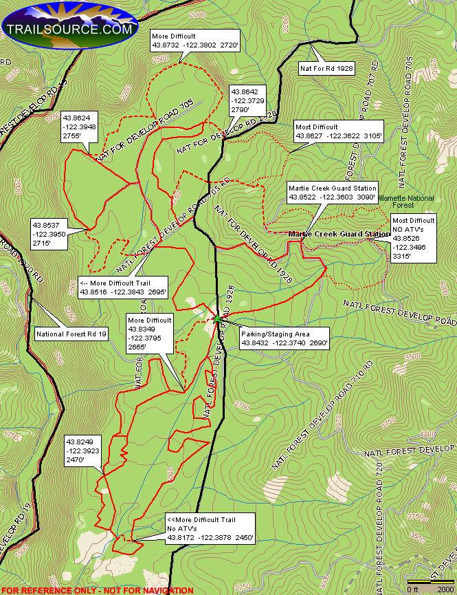 Huckleberry Flat ORV Trail Dirt Biking Map