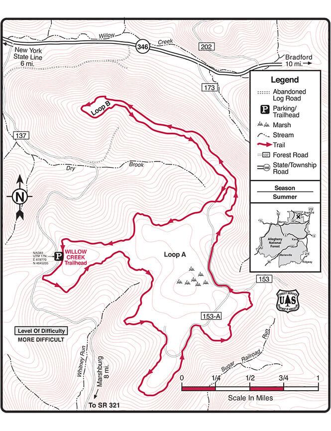 Willow Creek ORV Trail Dirt Biking Map
