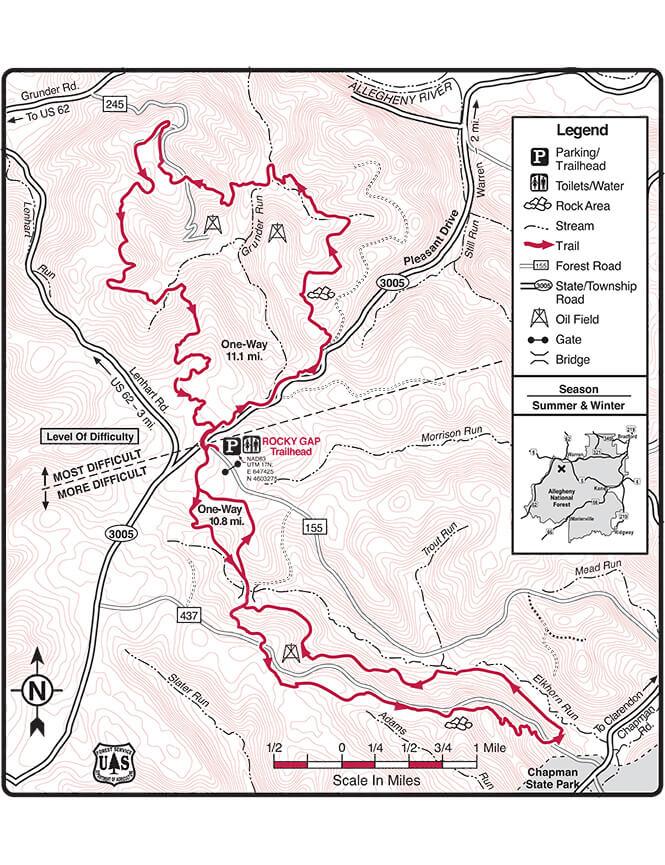 Rocky Gap ORV Trail Dirt Biking Map