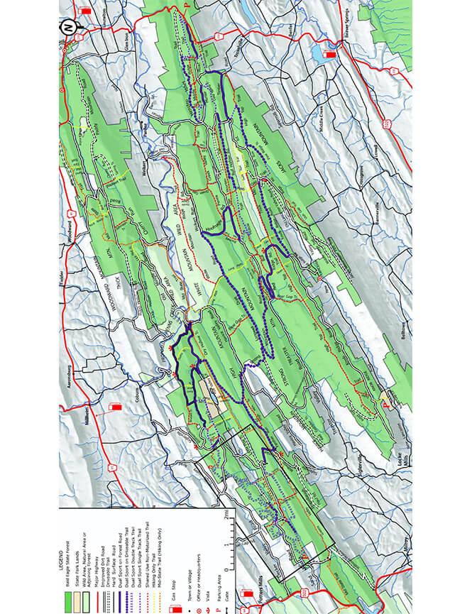 Dual Sport Motorycle Trail Dirt Biking Map