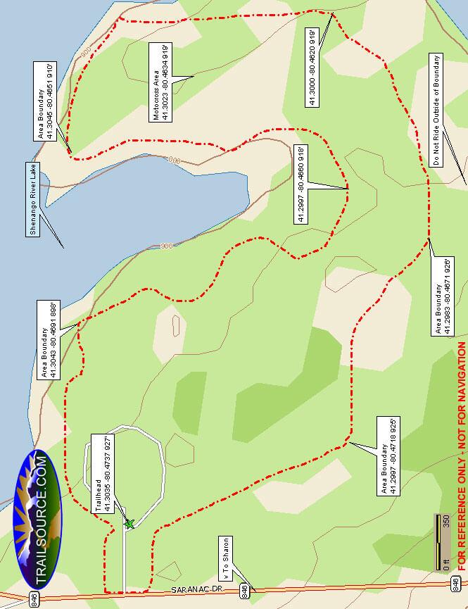 Bayview ORV Area Dirt Biking Map