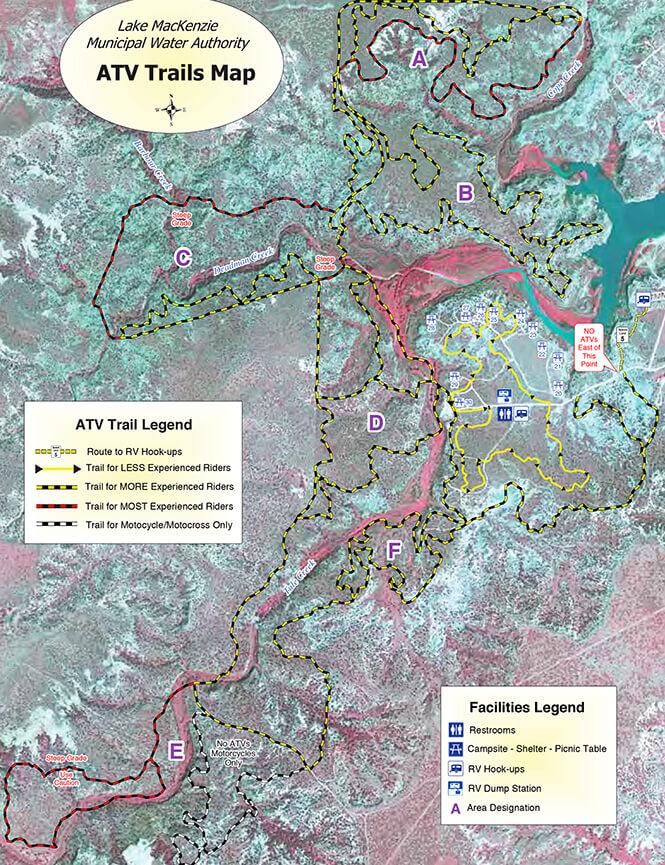 Lake Mackenzie Area Dirt Biking Map