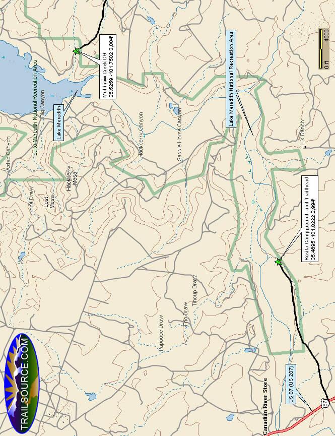 Rosita ORV Area Dirt Biking Map