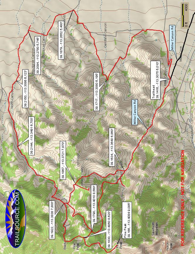 Amasa Basin Dirt Biking Map